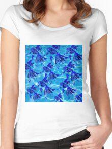 Water & Mandala Fish Women's Fitted Scoop T-Shirt