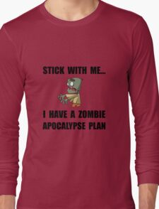 Zombie Plan Long Sleeve T-Shirt