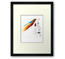 Eighties Look Fashion Illustration by Anne Zielinski-Old Framed Print