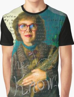 """Twin Peaks The Log Lady  """"The Log Knows"""" Graphic T-Shirt"""