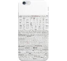 David Bowie Singles iPhone Case/Skin