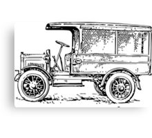 1920's Truck, Old Car Drawing Canvas Print