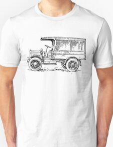 1920's Truck, Old Car Drawing T-Shirt