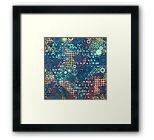 Baby Blue Bubbles Framed Print