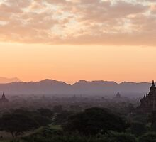 Bagan at Dawn by Johannes Valkama