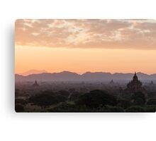 Bagan at Dawn Canvas Print