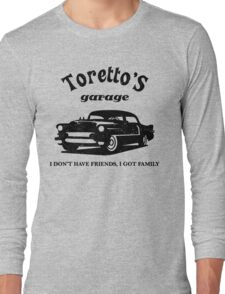Toretto's Garage. Fast and Furious / Gas Monkey - inspired Long Sleeve T-Shirt