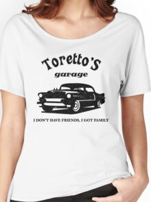 Toretto's Garage. Fast and Furious / Gas Monkey - inspired Women's Relaxed Fit T-Shirt