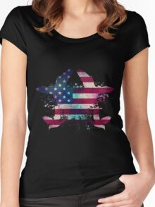 American Freedom Love Women's Fitted Scoop T-Shirt
