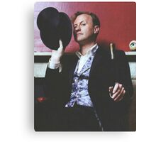 mark gatiss and his tophat Canvas Print