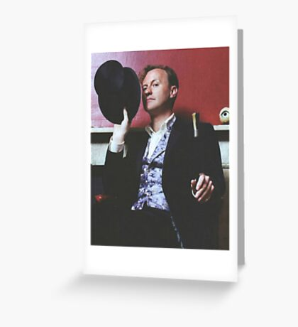 mark gatiss and his tophat Greeting Card