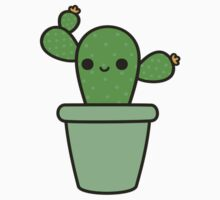 Cute cactus in green pot Kids Clothes