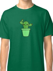 Cute cactus in green pot Classic T-Shirt