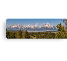 Grand Tetons Over Jackson Lake Canvas Print