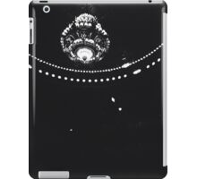 Black and White Chandelier Silhouette   iPad Case/Skin