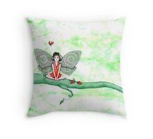 Ladybug Fairy Throw Pillow