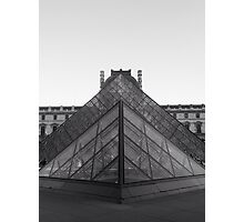 Black and White Louvre Photographic Print