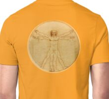 LEONARDO, Da Vinci, The Vitruvian Man, CIRCLE, c.1485, Accademia, Venice, on VELLUM Unisex T-Shirt