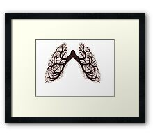 tree lungs Framed Print