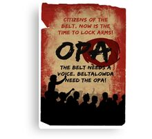 opa poster Canvas Print