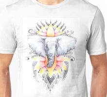 Elephant & Lotus Unisex T-Shirt