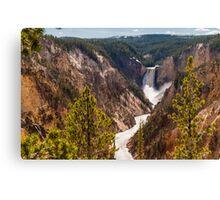 Lower Yellowstone Falls - Yellowstone National Park, Wyoming Canvas Print