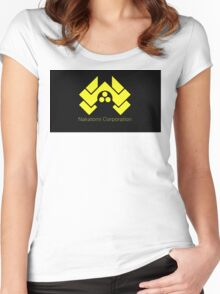die hard nakatomi corporation logo Women's Fitted Scoop T-Shirt