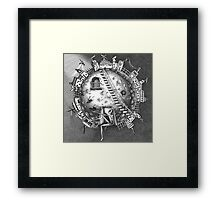 Alien on the moon Framed Print