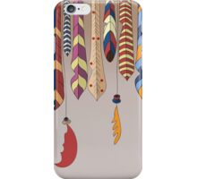Painted Indian feathers iPhone Case/Skin
