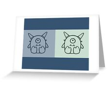 Twin Monsters Greeting Card