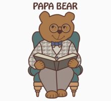 Papa Bear Reading by Sue Cervenka