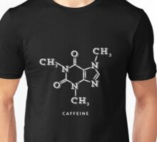 White Coffee Molecule Graphic Unisex T-Shirt