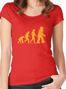 Sheldon Cooper - The Big Bang Theory Robot Evolution Women's Fitted Scoop T-Shirt