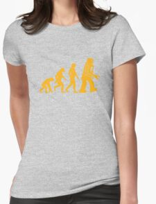 Sheldon Cooper - The Big Bang Theory Robot Evolution Womens Fitted T-Shirt