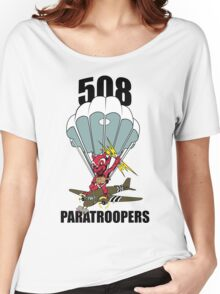 508 PARATROOPERS CARTOON Women's Relaxed Fit T-Shirt