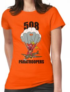 508 PARATROOPERS CARTOON Womens Fitted T-Shirt