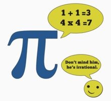 Math Humor for Pi Day Kids Clothes