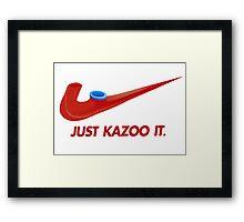 Kazoo kid - Just Kazoo It (Nike style) Framed Print