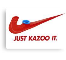 Kazoo kid - Just Kazoo It (Nike style) Canvas Print