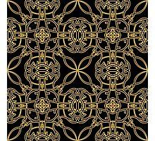 gold vintage pattern Photographic Print