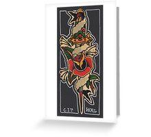 Dagger Rose Greeting Card