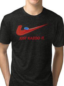 Kazoo kid - Just Kazoo It (Nike style) Tri-blend T-Shirt