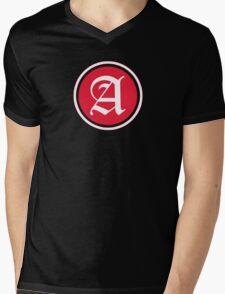 A Red Chevron Mens V-Neck T-Shirt