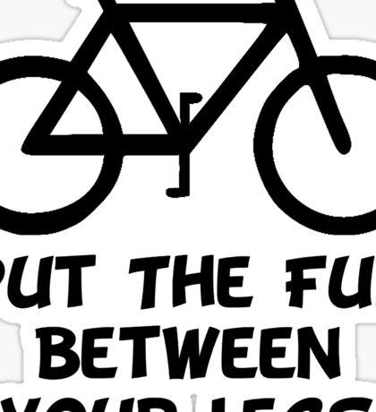 Bike Between Legs Sticker