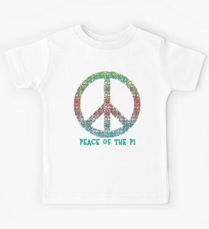 Peace of the Pi for Pi Day Kids Tee