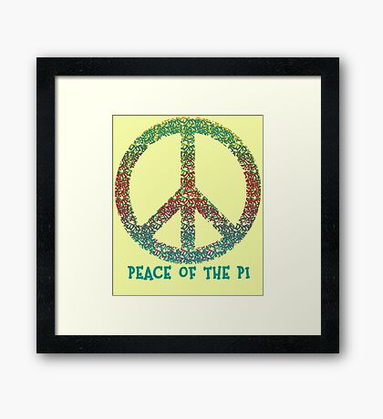 Peace of the Pi for Pi Day Framed Print