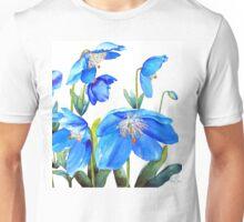 Himalayan Blue Poppies Unisex T-Shirt