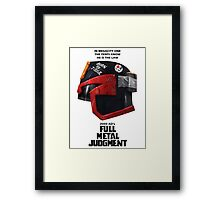 Full Metal Mashup!!! - Born to Judge Framed Print