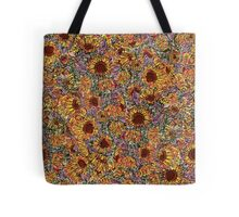 Sunflower repeating pattern Tote Bag