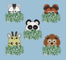 Peeping Zoo Animals Kids Tee